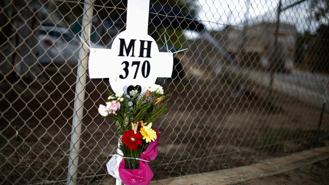 A memorial cross for MH370