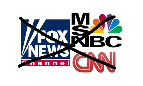Cable News Logos Crossed Out