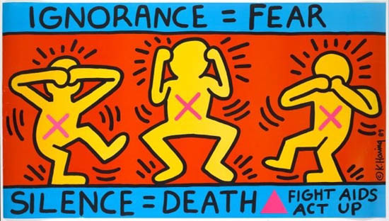 Act up poster by Keith Haring