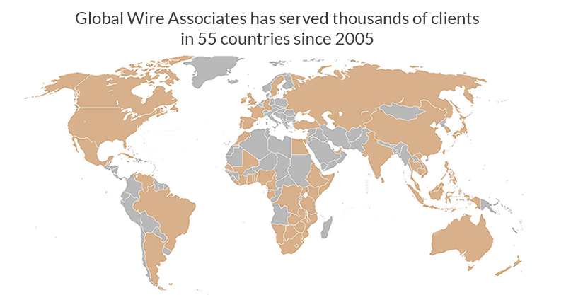 Global Wire Associates has served thousands of clients in 55 countries since 2005